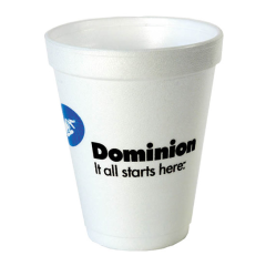 custom 10 oz ounce styrofoam foam cups lids with your printed neam