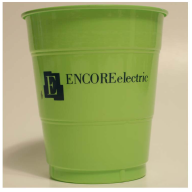12 oz. Lime Green Colored Custom Printed Plastic Drink Party cups! Great wholesale pricing for Weddings, Corporate Office Meetings, Sport events, Schools, Churches, Street Festivals, Restaurants, Bars, Birthdays and more! 12I38