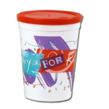 Smooth wholesale perso custom printed 12 oz plastic Stadium Cup! Discount affordable promotional product for Sports teams and sporting events, Schools, Churches, Corporate parties, Street Festivals, Restaurants, Bars and more! Lids sold seperately. S