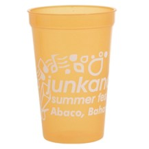 Smooth wholesale translucent custom printed 16 oz. plastic Stadium Cups! Discount affordable promotional product for Sport events, Schools, Churches, Corporate parties, Street Festivals, Restaurants, Bars and more! Lids sold seperately.  SMOS278