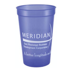 Smooth wholesale custom printed Translucent 22 oz. plastic Stadium Cup! Discount affordable promotional product for Sports teams and sporting events, Schools, Churches, Corporate parties, Street Festivals, Restaurants, Bars and more! SMOS22OZ