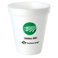 8 oz ounce custom printed styrofoam foam cups & lids with