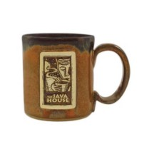 10 oz. Custom promotional Handcrafted Glazed Stoneware Ceramic Coffee Mugs. A beautiful and unique handmade clay Old World coffee mug with glaze finish and a Classic Country design. We are THE DIRECT SOURCE for custom Stoneware Mugs. CUSR282