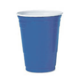 Customized promotional 16 oz Blue Solo Brand Party cups ! Logo these Blue 16 oz Solo cups and all our personalized solo cups wedding too! Tons of wedding reception ideas for drinks. Personalized solo cups are party cups. Custom party cups.  CUS342