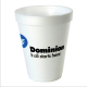 Custom 10 oz ounce styrofoam foam cups & lids with your printed neam logo and text in any color . Hot & Cold drinks can be used for your Restaurant business , coffee shop and breakroom with these disposable print insulated cups . CUSJ4