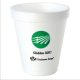 8 oz ounce custom printed styrofoam foam cups & lids with name text & logo printed for personalized branding ! Can be used for hot & cold drinks including coffee hot chocolate , frozen drinks , sampling cups & more! 83FOAM